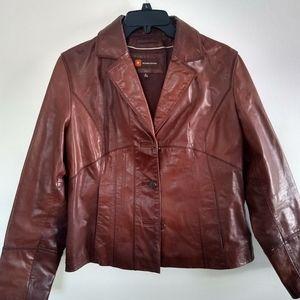 Wilson's leather brown coat